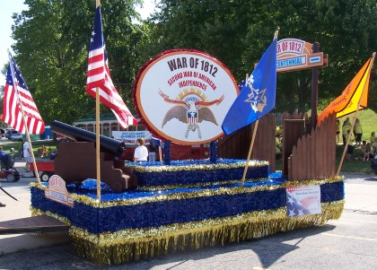 Illinois Society of the WAr of 1812 float
