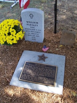 Wm Pursley grave marking