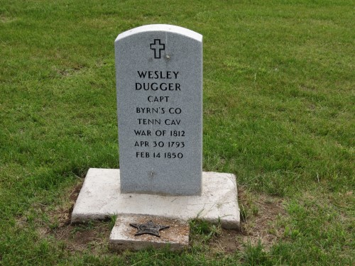 Weslely dugger tombstone